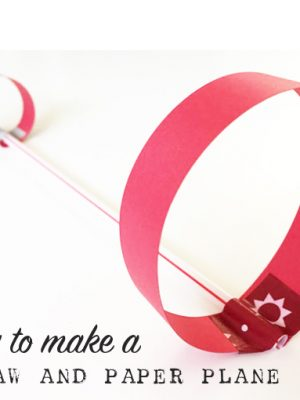 How to make a straw airplane   TinkerLab