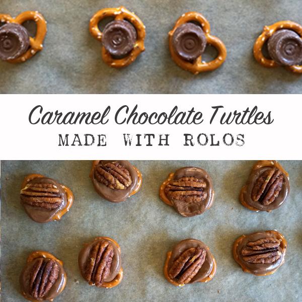 Caramel Chocolate Rolo Turtle Recipe