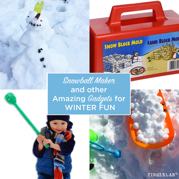 I love this snowball maker! The amazing snowball maker and other gadgets for winter fun.