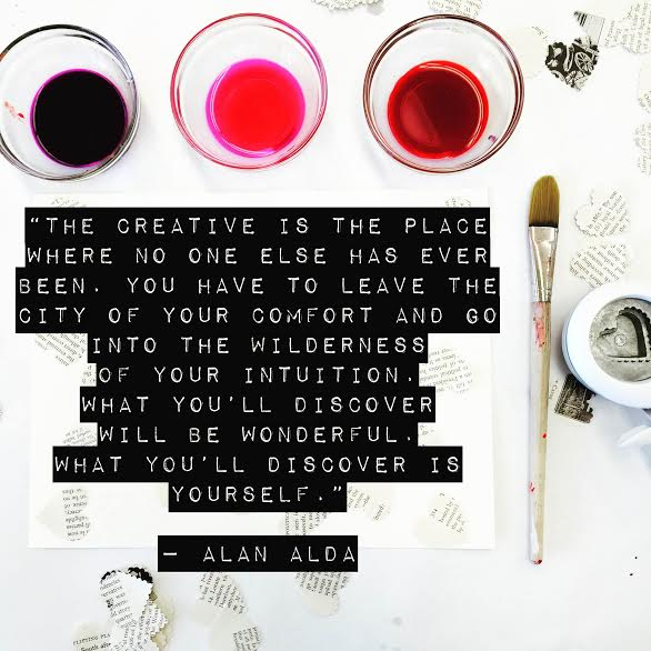 The creative place is where no one else has ever been Alan Alda