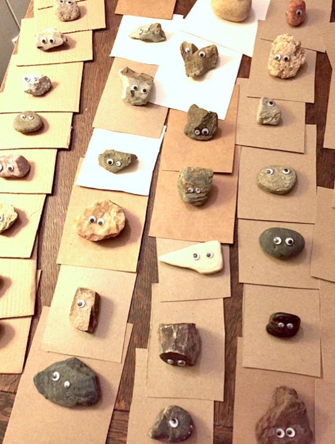Valentine Cards with Rocks