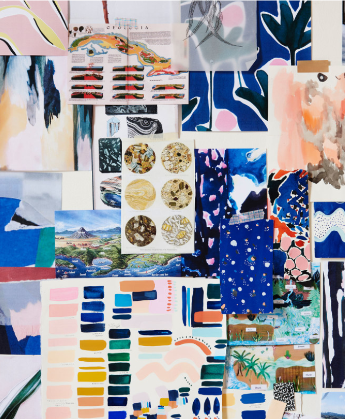 Cassie Byrnes Textile design Mood Board Inspiration