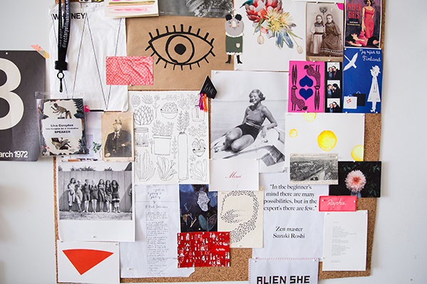 LIsa Congdon Studio Inspiration Board