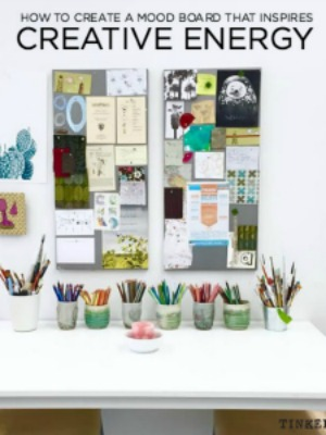 make a mood board that inspires creativity