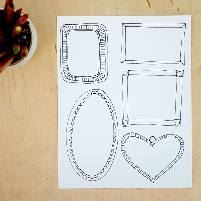Drawing Prompt: Fill a Frame | TinkerLab