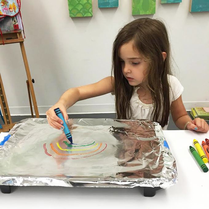 How to make melted crayon art with a hot plate