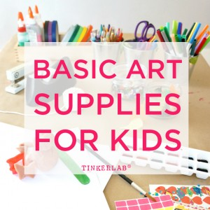Basic art supplies for kids