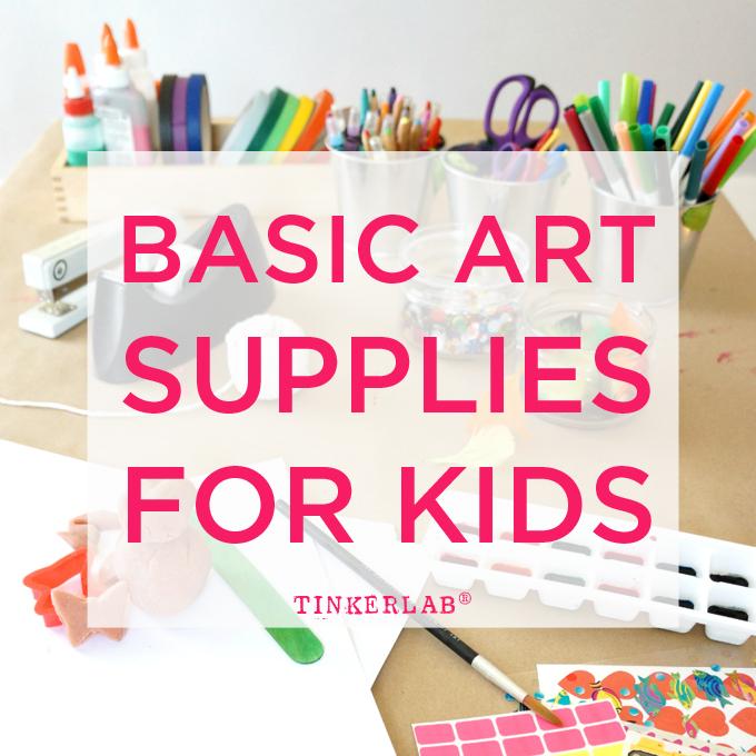 Basic art supplies for kids