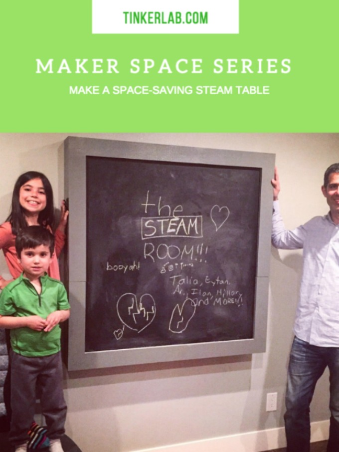 Make a space saving STEAM table at home. TinkerLab