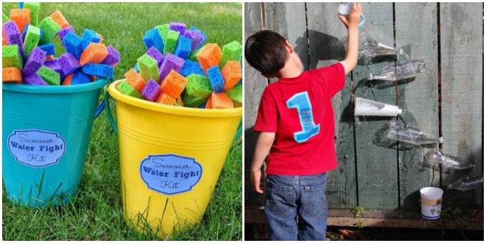 Kids Summer Activities Water Fight Wall