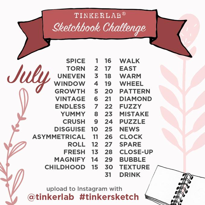 Sketchbook Challenge July 2016