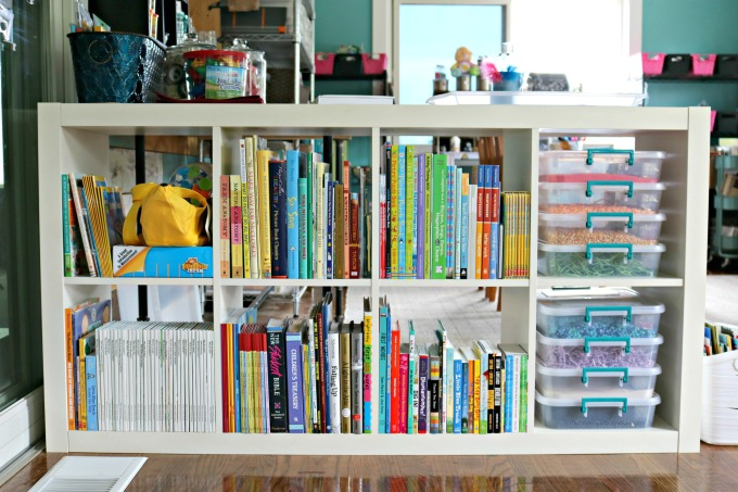 Books and Storage Kids Art Space