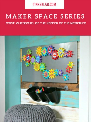 Home maker space for a family on TinkerLab