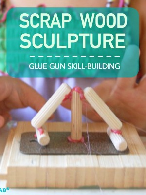 Practice glue gun skills with this fun, preschool ready sculpture activity. | TinkerLab