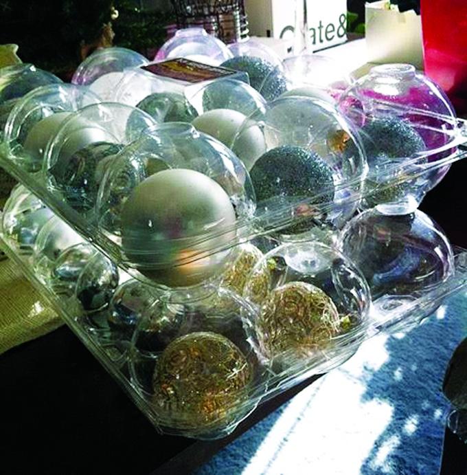 plastic apple container store ornaments
