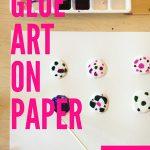 Art Experiment | Glue Art on Paper