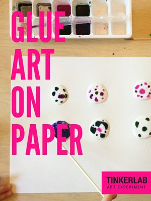Art Experiment | Glue Art on Paper