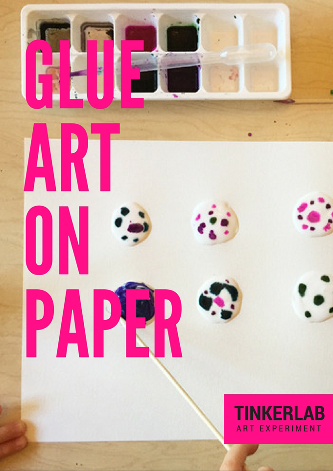 GLUE ART ON PAPER