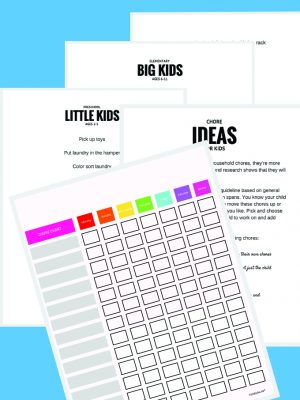 Downloadable Chore Chart