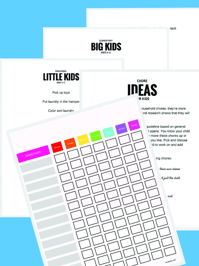 chore chart and ideas
