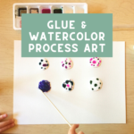 Glue & Watercolor Process Art