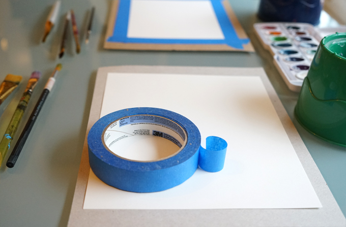 Simple frame paper