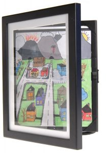childrens art frame cabinet