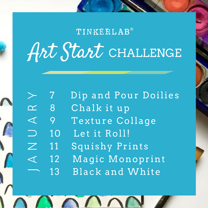 Art start challenge list JAN 2016 (1)