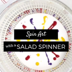 Salad Spinner Spin Art