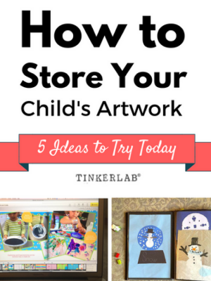 how to store you childs art