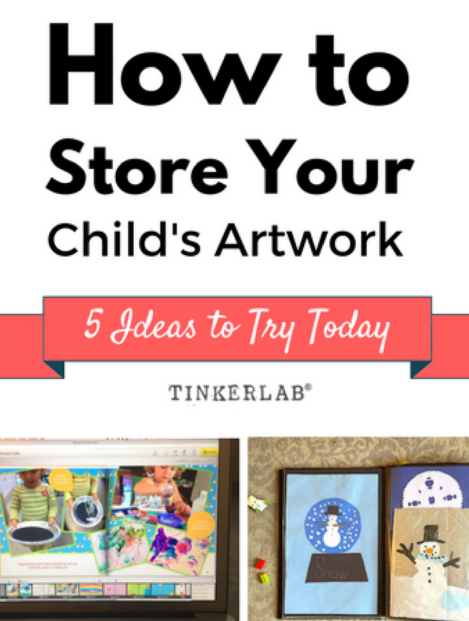 How To Easily Save And Share Your Child S Art Tinkerlab