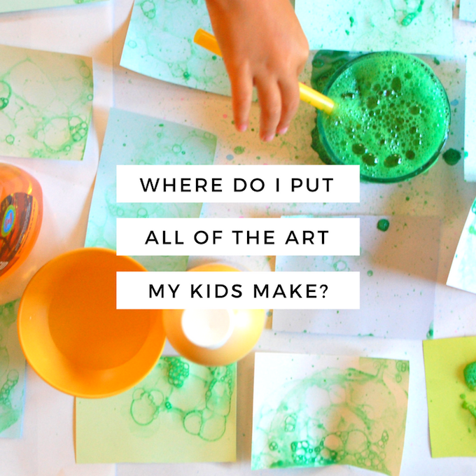 where do i put all the art my kids make-