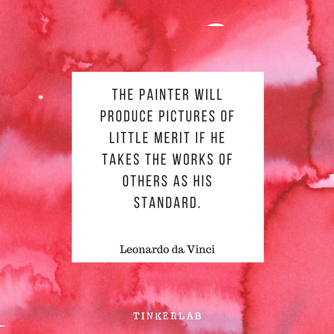 da vinci painting quote tinkerlab