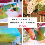 Hand Painted Wrapping Paper for Kids