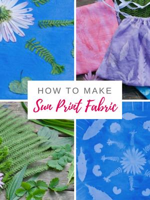 DIY Sun print fabric with acrylic paint