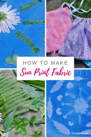 How to Make Sun Prints on Fabric | TinkerLab