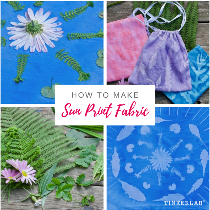 How To Make Sun Prints On Fabric Tinkerlab