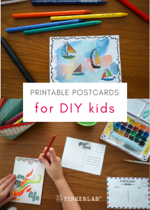 rintable postcards for DIY kids tinkerlab