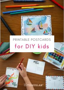 rintable postcards for DIY kids tinkerlab