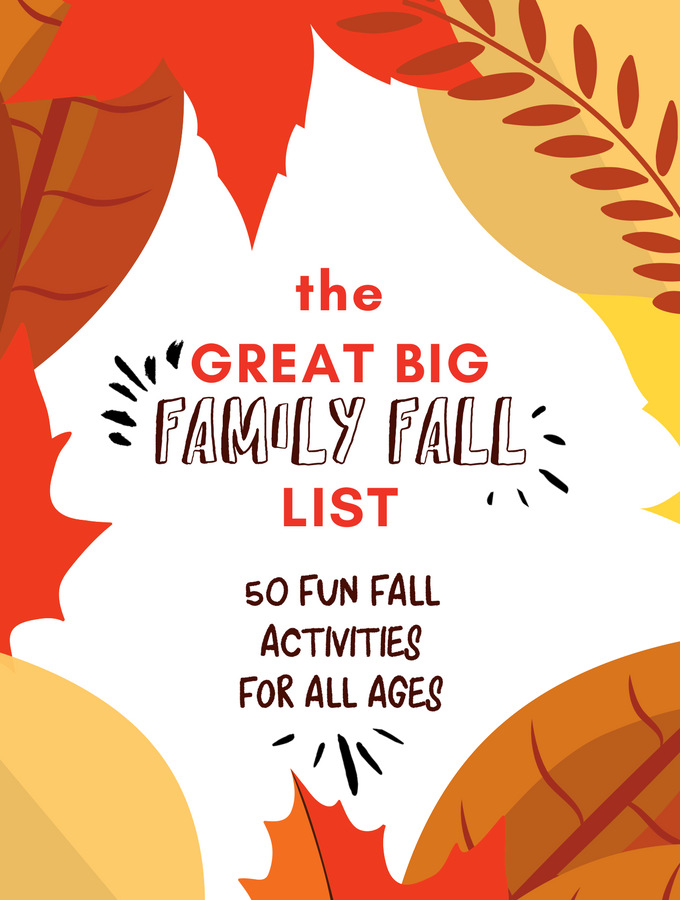 family fall bucket list from tinkerlab