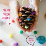Pom Pom Christmas Pinecone Ornament Craft