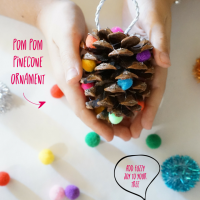 DIY kids pinecone Christmas ornament