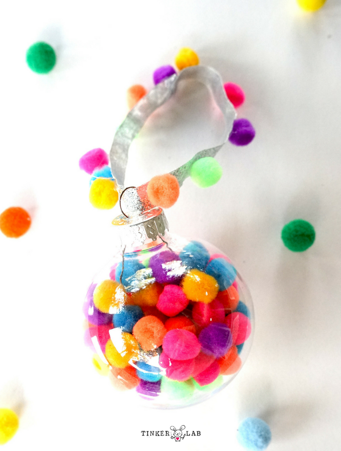 Pom Pom Christmas Ornament Bauble