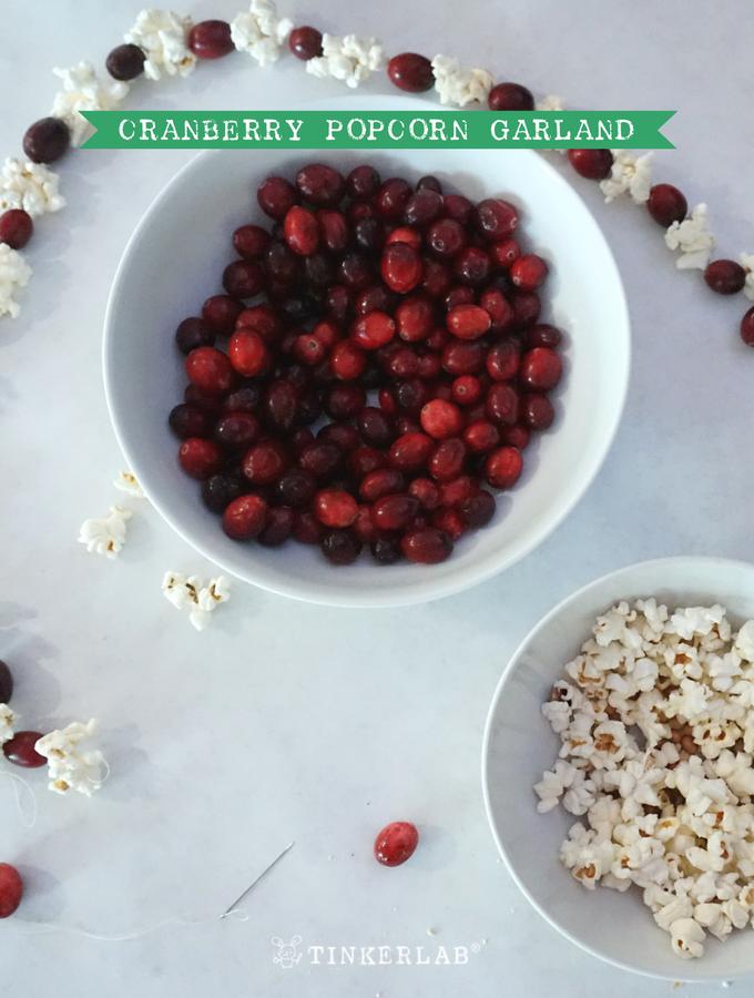 cranberry popcorn garland