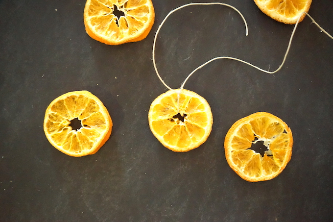 tie twine orange garland