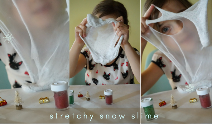 stretchy sensory snow slime