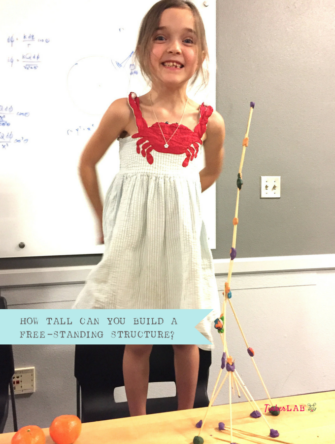 STEM activity how tall can you build a free standing structure_