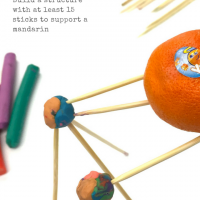 STEAM Project: Design Challenge with Sticks, Clay, and a Mandarin