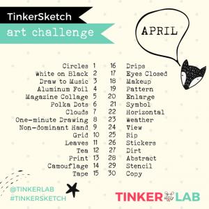 April TinkerLab Art Challenge