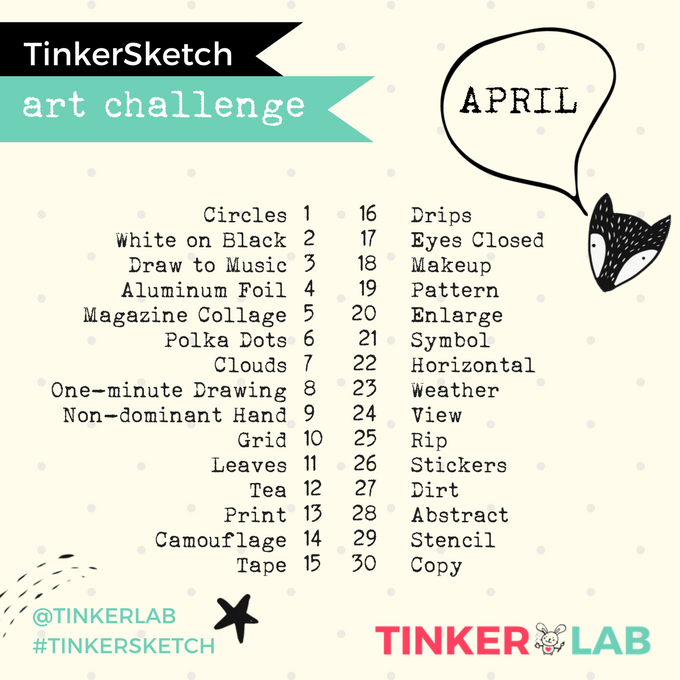 April TinkerLab Art Challenge